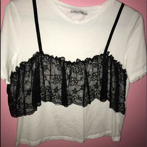 lace front crop top